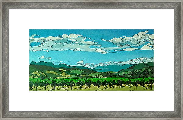 Vineyard Landscape Framed Print