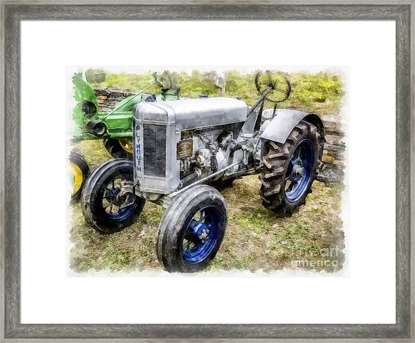 Vintage 1930 Plymouth Tractor Framed Print