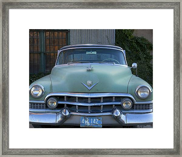 Framed Print featuring the photograph Vintage 1950s Cadillac by Gigi Ebert