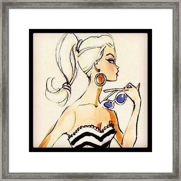 Vintage Barbie Sketch #awesome #barbie Framed Print