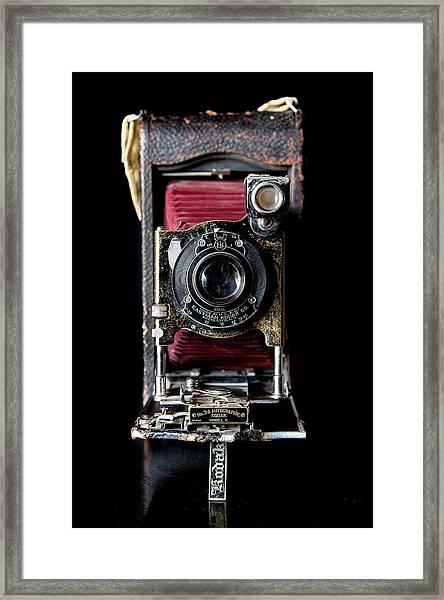 Vintage Bellows Camera Framed Print