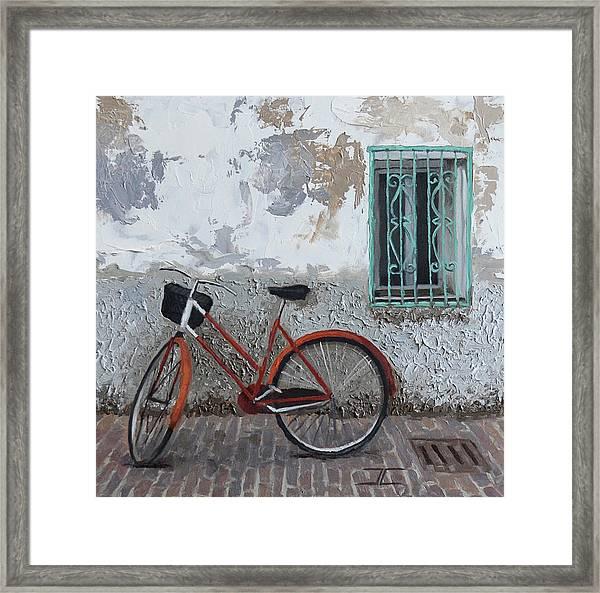 Vintage Series #3 Bike Framed Print