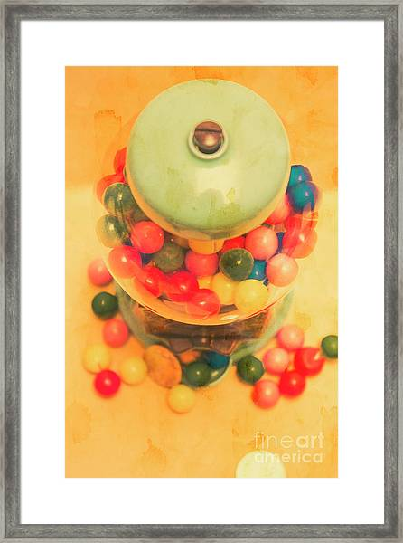 Vintage Candy Machine Framed Print