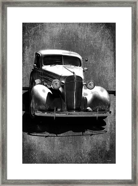 Vintage Car Art 0443 Bw Framed Print