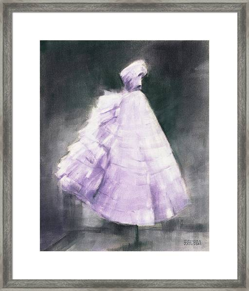 Vintage Chic Lavender And Gray Framed Print by Beverly Brown