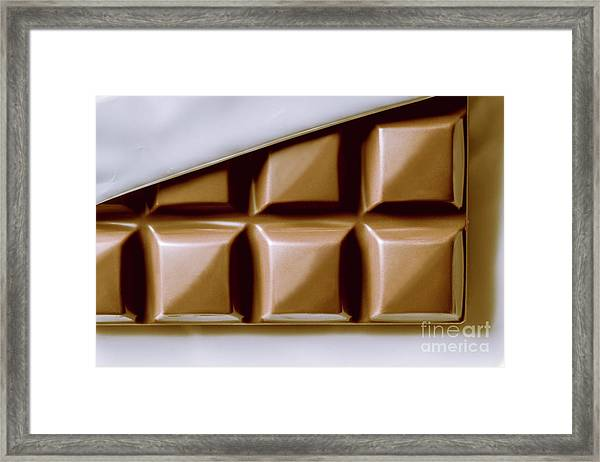 Vintage Chocolate Block Macro Framed Print