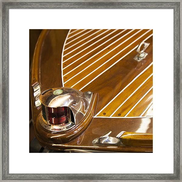 Vintage Century Boat Bow Light Framed Print
