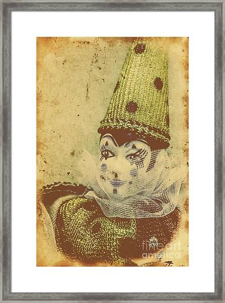 Vintage Circus Postcard Framed Print