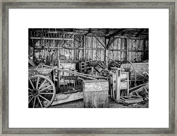 Vintage Farm Display Framed Print