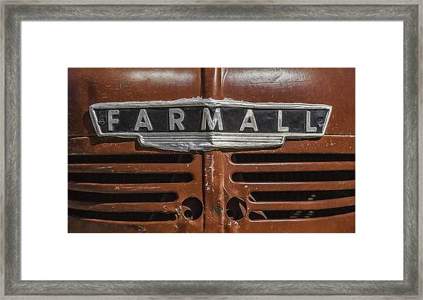 Vintage Farmall Tractor Framed Print