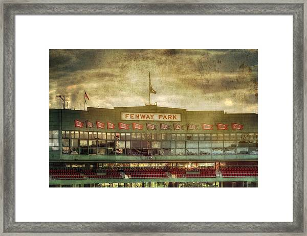 Vintage Fenway Park - Boston Framed Print