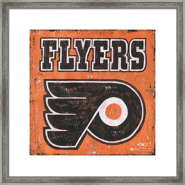 Vintage Flyers Sign Framed Print