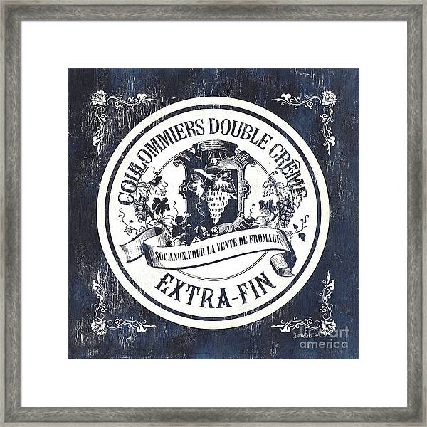 Vintage French Cheese Label 2 Framed Print