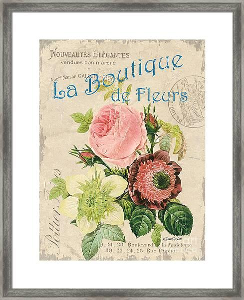 Vintage French Flower Shop 2 Framed Print