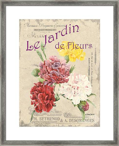Vintage French Flower Shop 4 Framed Print
