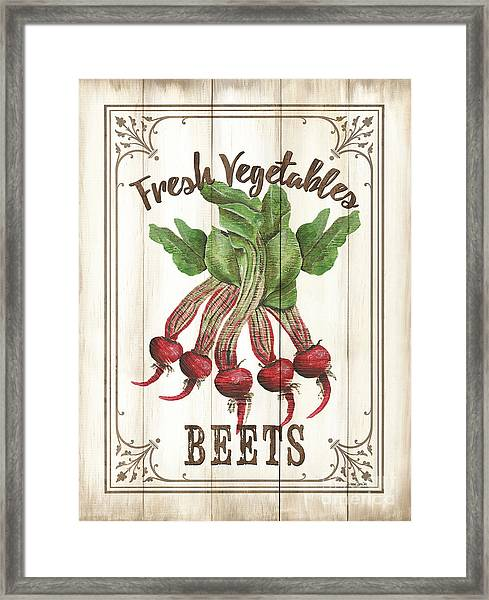 Vintage Fresh Vegetables 1 Framed Print