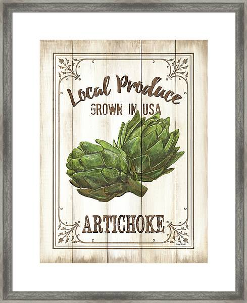 Vintage Fresh Vegetables 2 Framed Print