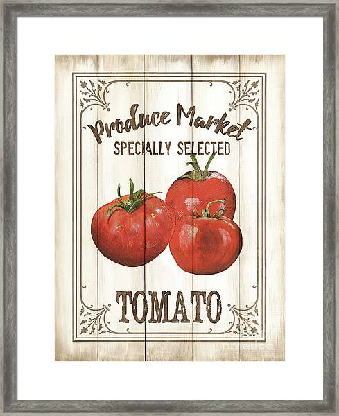 Vintage Fresh Vegetables 4 Framed Print