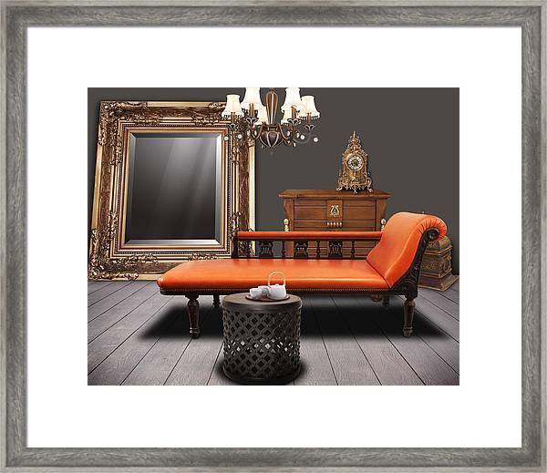 Vintage Furnitures Framed Print