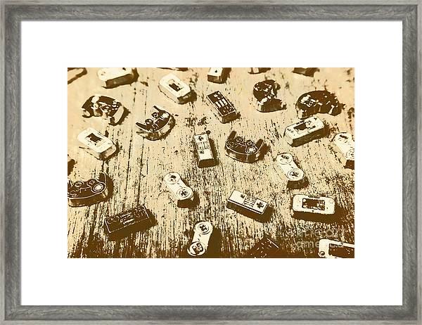 Vintage Gamers Framed Print