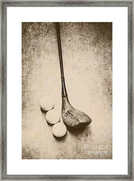 Vintage Golf Artwork Framed Print