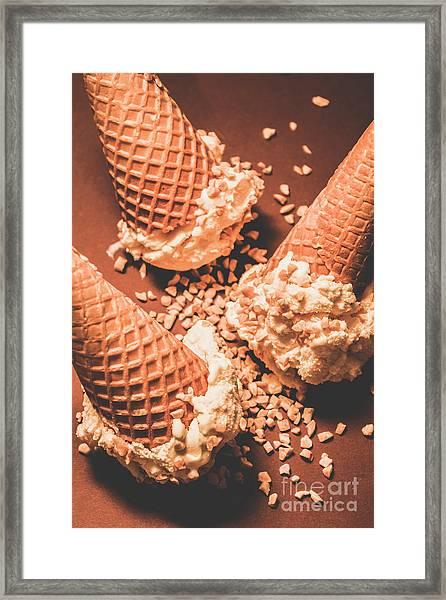 Vintage Ice Cream Shop Art Framed Print