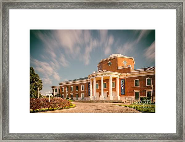 Vintage Image Of The Mayborn Museum Complex At Baylor University - Waco Central Texas Framed Print