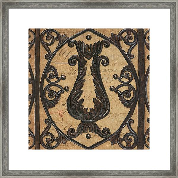 Vintage Iron Scroll Gate 2 Framed Print