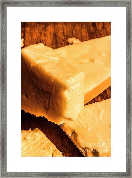 Vintage Italian Cheeses Framed Print
