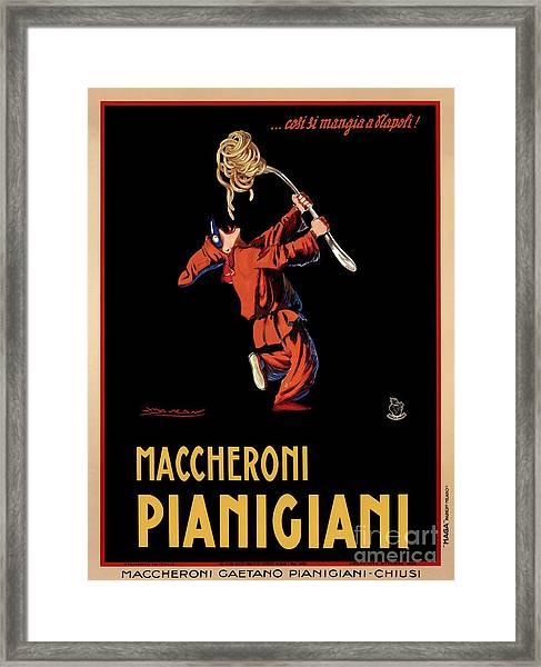 Vintage Italian Pasta Advertising Framed Print