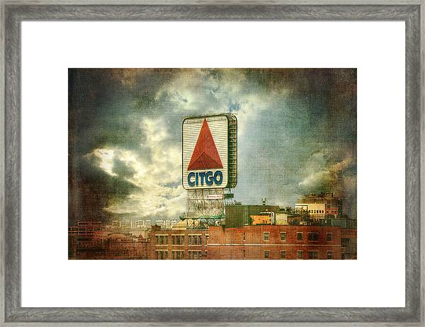 Vintage Kenmore Square Citgo Sign - Boston Red Sox Framed Print