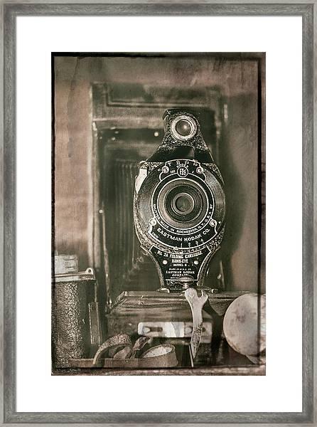 Vintage Kodak Camera Framed Print