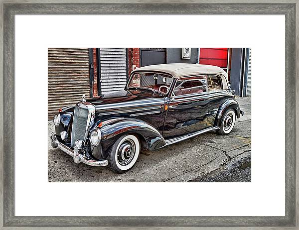 Vintage Mercedes Beauty Shot Framed Print