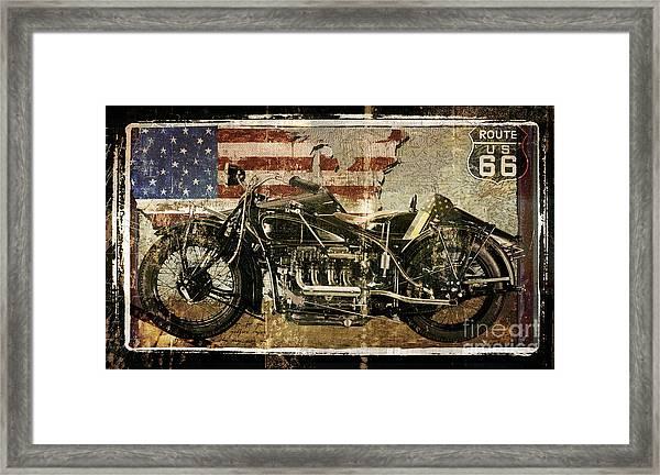 Vintage Motorcycle Unbound Framed Print
