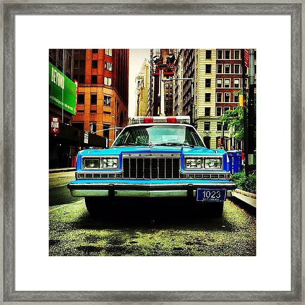 Vintage Nypd. #car #nypd #nyc Framed Print