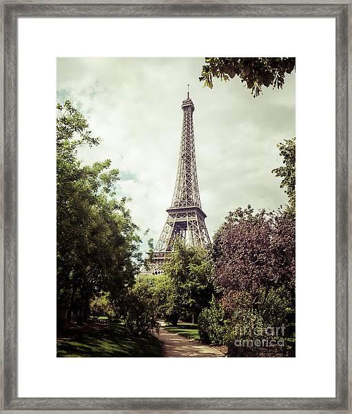 Vintage Paris Framed Print