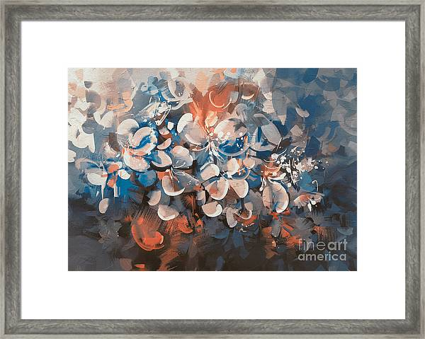 Framed Print featuring the painting Vintage Petal by Tithi Luadthong