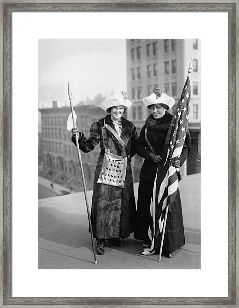 Vintage Photo Suffragettes Framed Print