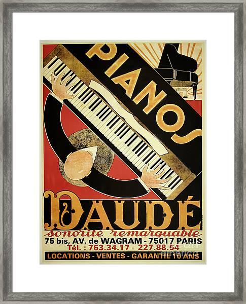 Vintage Piano Art Deco Framed Print