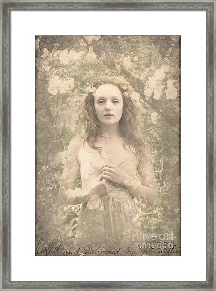 Vintage Portrait Framed Print