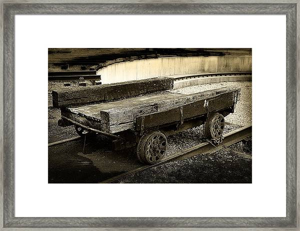 Vintage Rail Cart Framed Print