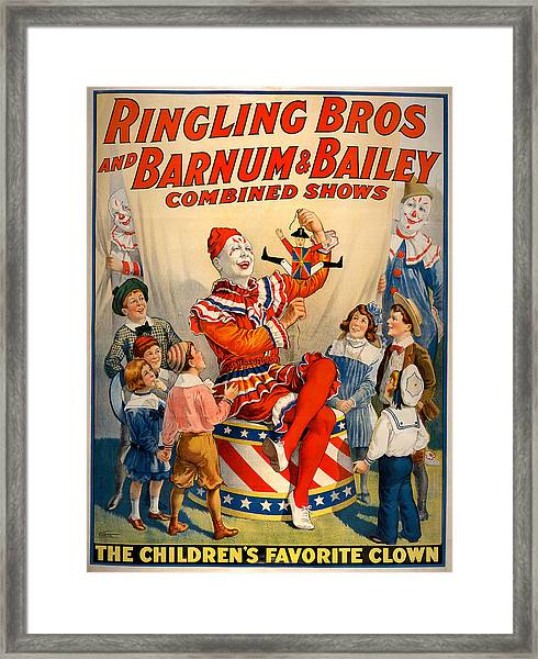 Vintage Ringling Brothers And Barnum And Bailey Combined Circus Framed Print