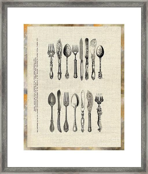 Vintage Silverware Framed Print