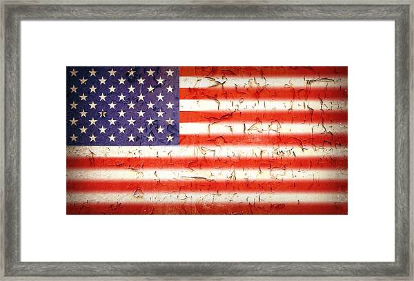 Vintage Stars And Stripes Framed Print