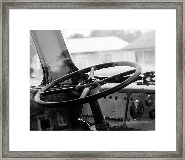 Vintage Steering Framed Print