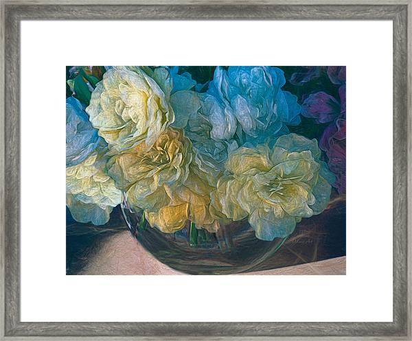 Vintage Still Life Bouquet Painting Framed Print
