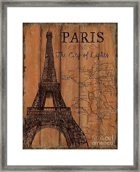 Vintage Travel Paris Framed Print