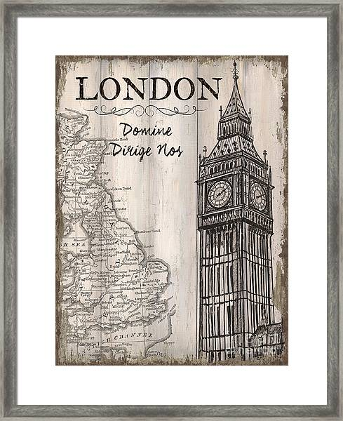 Vintage Travel Poster London Framed Print