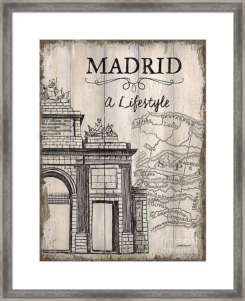 Vintage Travel Poster Madrid Framed Print