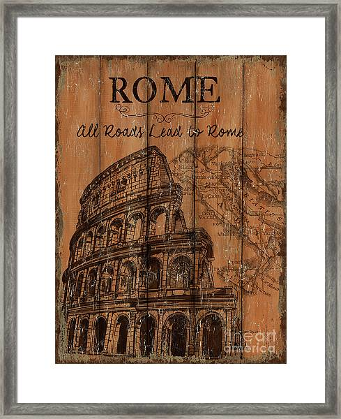Vintage Travel Rome Framed Print